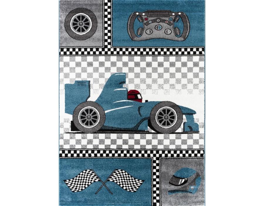 Covor Copii Formula 1 Albastru M197 Dreptunghi Polipropilena