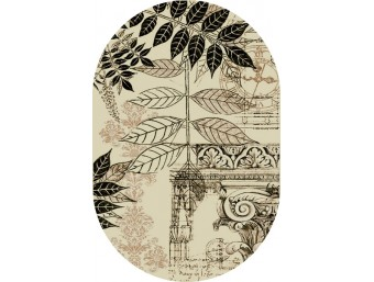 Covor Lotus Frunze Oval - 15451/110