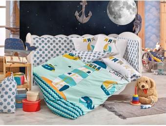 Lenjerie de pat copii Bumbac 100% Baby Sailor Green