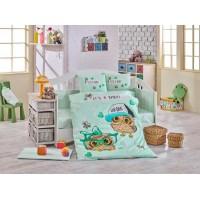 Lenjerie de pat copii Bumbac 100% Coolbaby Mint
