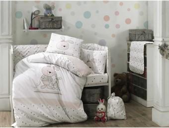 Lenjerie de pat copii / bebe Bumbac 100% Elina Pink