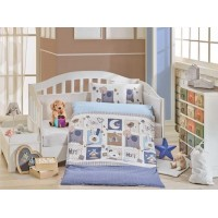 Lenjerie de pat copii Bumbac 100% Sweethome Blue