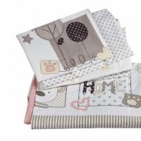 Lenjerie de pat copii Bumbac 100% Sweethome Pink