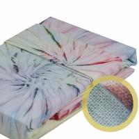 Lenjerie de pat dublu din Bumbac 100% Helezon Pink vopsita manual