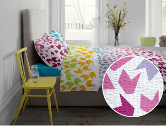 Lenjerie de pat dublu din Bumbac 100% Creponat Loving Matisse V1 - XXL
