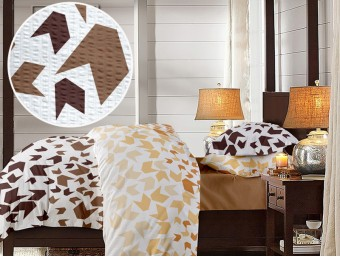 Lenjerie de pat dublu din Bumbac 100% Creponat Loving Matisse V2