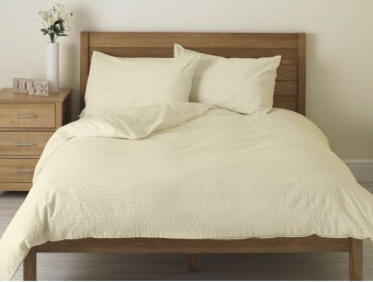 Lenjerie de pat dublu din Bumbac 100% Creponat Vanilla – XXL
