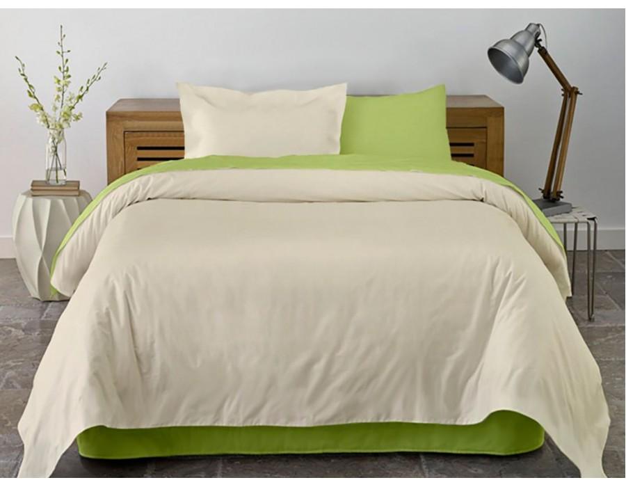 Lenjerie de pat dublu din Bumbac 100% Ranforce Lime & Vanilla XXL