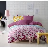 Lenjerie de pat dublu din Bumbac 100% Ranforce Loving Matisse V1 – XXL – Fata Reversibila