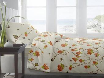 Lenjerie de pat dublu din Bumbac 100% Ranforce Magnolia Butterfly V2 – XXL
