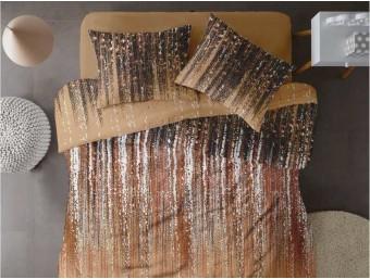Lenjerie de pat dublu din Bumbac 100% Ranforce - Stardust V1 - 4 piese