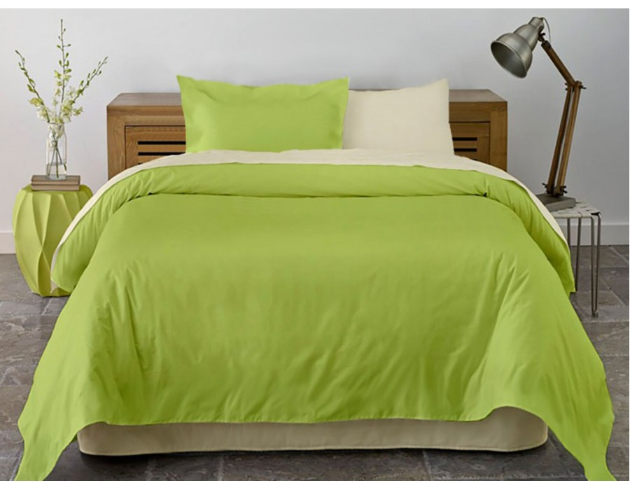 Lenjerie de pat dublu din Bumbac 100% Ranforce Vanilla & Lime XXL