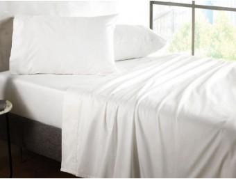 Lenjerie de pat 1 persoana din Policotton Alb Hardy