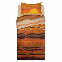 Lenjerie de pat 1 persoana din Bumbac 100% Ranforce Sunset