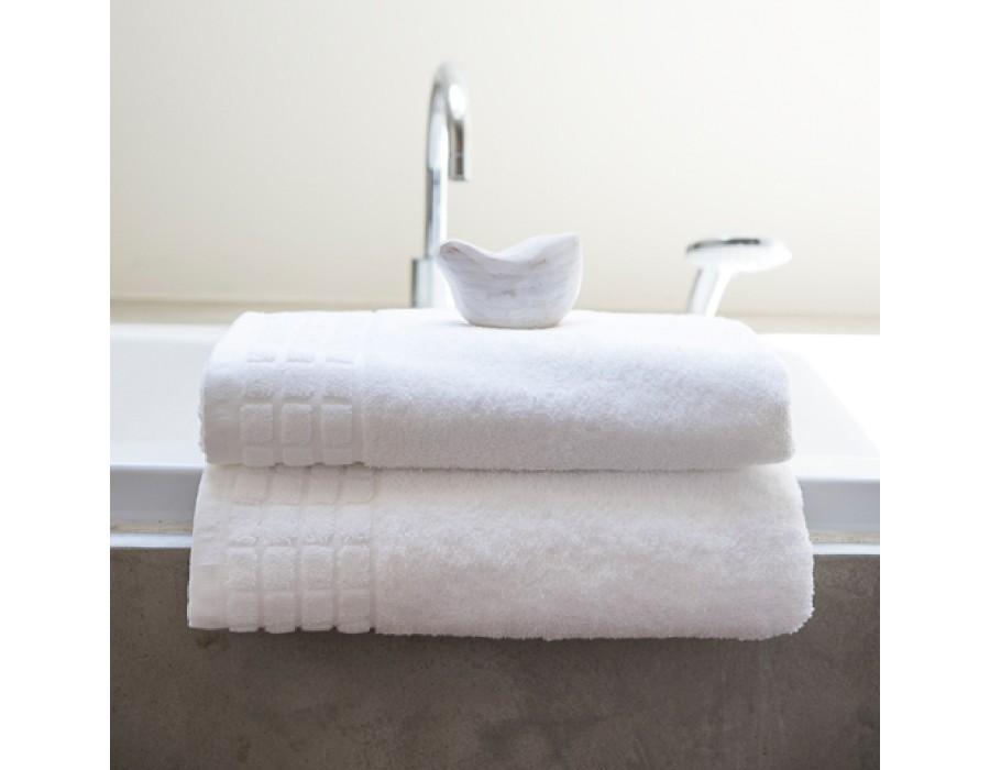 Prosop de baie bumbac 100% Mozaic Alb 50x90 cm