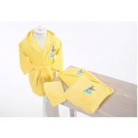 Set de baie cu halat si prosoape pentru copii 0- 2 ani Bugs Bunny Galben