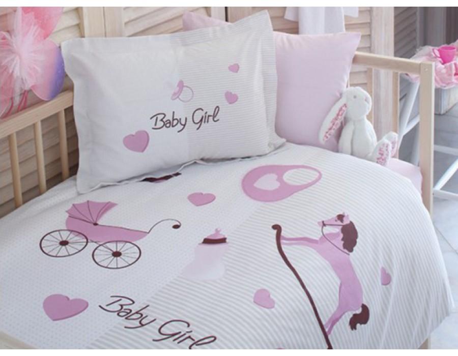 Lenjerie de pat copii Bumbac 100% Baby Girl