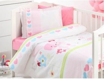 Lenjerie de pat copii Bumbac 100% Baby Rabbit