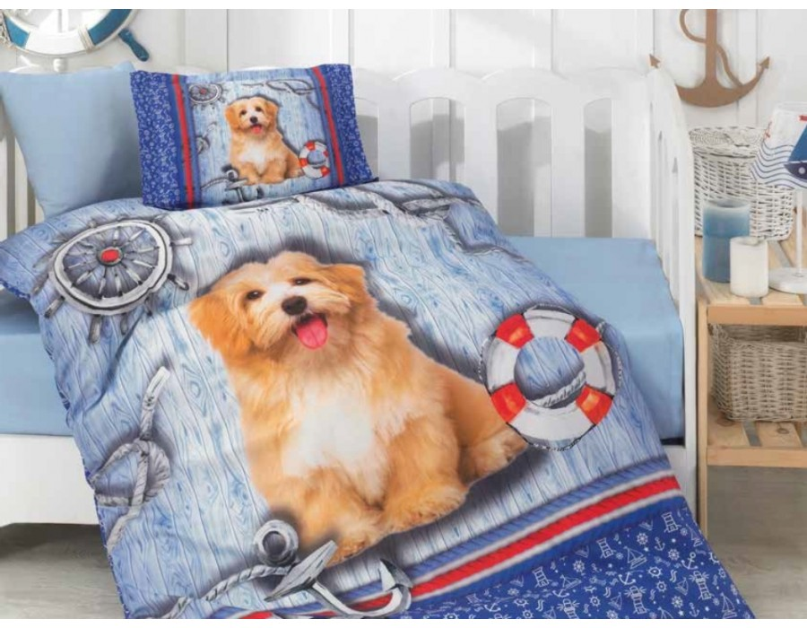 Lenjerie de pat copii / bebe Bumbac 100% Bebe Rico