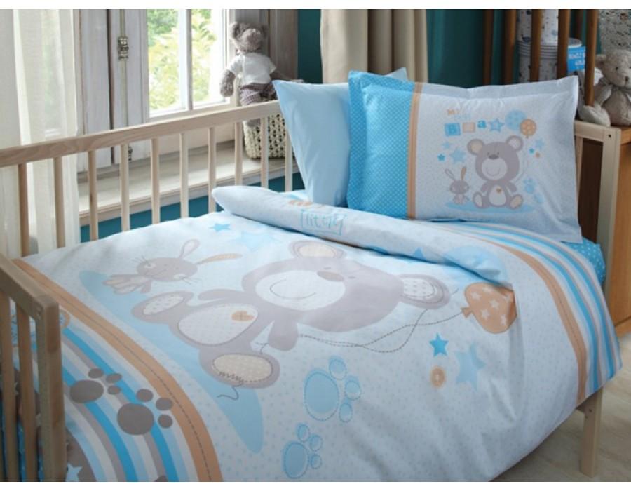 Lenjerie de pat copii Bumbac 100% Little Foot