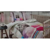 Lenjerie de pat copii / bebe Bumbac 100% Bebe Smoothie