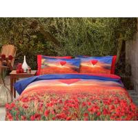 Lenjerie de pat dublu din Bumbac 100% Ranforce Poppy