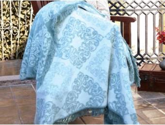 Patura Bumbac Clarisa Albastru 180x220cm