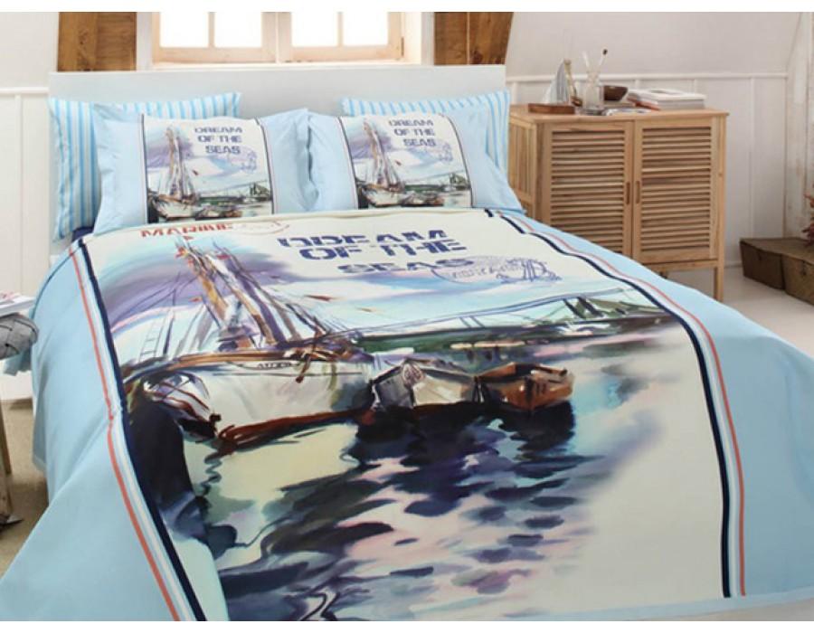 Set pat dublu Sea Dream cu pled